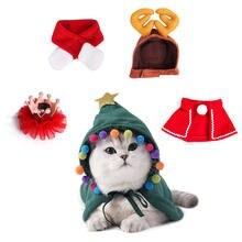 Новый год в виде рождественского кота реквизит красного цвета
