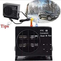 ONEWELL 12V 300W Car Hot Fan Portable Ceramic Heater for Car Heating, Windshield Defroster and Demister