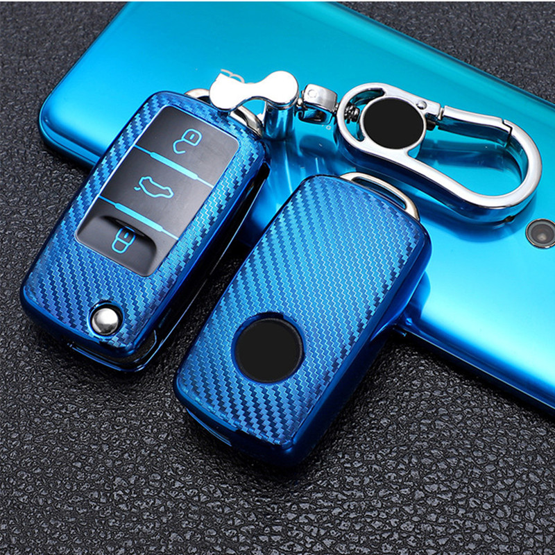 Car key case for volkswagen vw magotan b8 polo 9n golf 4 3 5 6 6r 7 mk7 mk4 passat b5 b6 b7 b8 touran bora tiguan jetta lavida