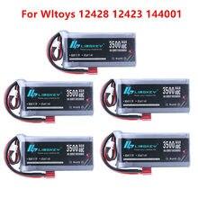 Alta potência rc carro lipo bateria 7.4v 3500mah max 60c para wltoys 12428 12423 rc parte de atualização do carro para wltoys 144001 feiyue 03 q39