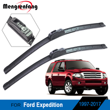 Wiper-Blades Ford Expedition Windscreen Soft-Rubber Front J Hook-Arms 2-Pieces
