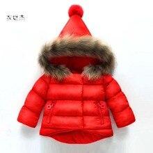 цена на Girls Winter Jackets Children Fur Hooded Down Parkas Coat Kids Girls Thick Warm Outwear Snowsuit Clothing Down Parkas