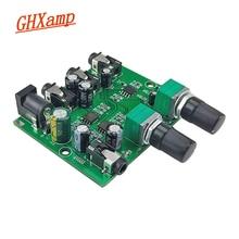 Ghxampステレオオーディオミキサー (2 入力 2 出力) 2 ウェイボリューム独立した制御ボード 2 ヘッドホンを接続またはアンプDC5 12V