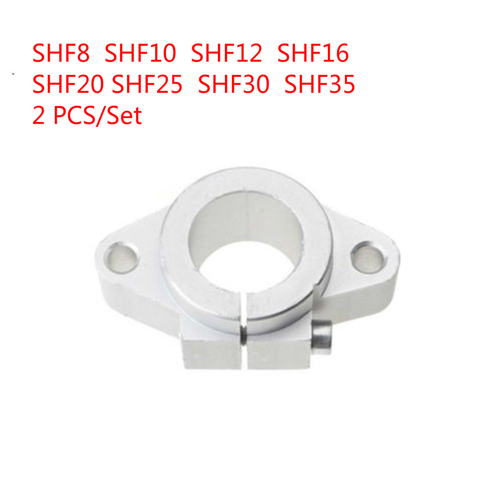 SHF30 30mm Linear Rod Rail Shaft Support FOR XYZ Table CNC Router Mill 2 PCS