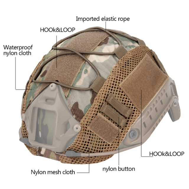 Airsoft Hunting (Tactical Military Combat) Helmet Cover CS Wargame Sport Helmet Cover For Ops-Core PJ/BJ/MH Type Fast Helmet new 4