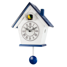 Wood Cuckoo Clock Mechanism Bird Living Room Pendulum Clock Wall Bell Garden Modern Bedroom Decor Gift Bathroom Clock Scenic