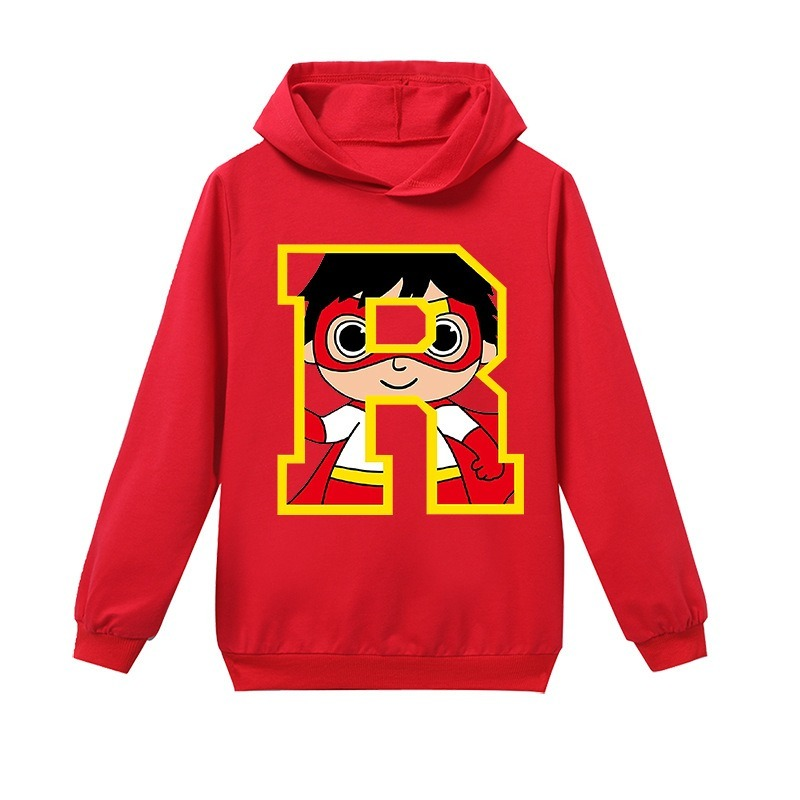Spring Autumn Boys Ryan Toys Review Hoodie Girls World Cartoon Sweatshirt Kids Hoody Thanksgiving Long Sleeve T Shirt Clothes
