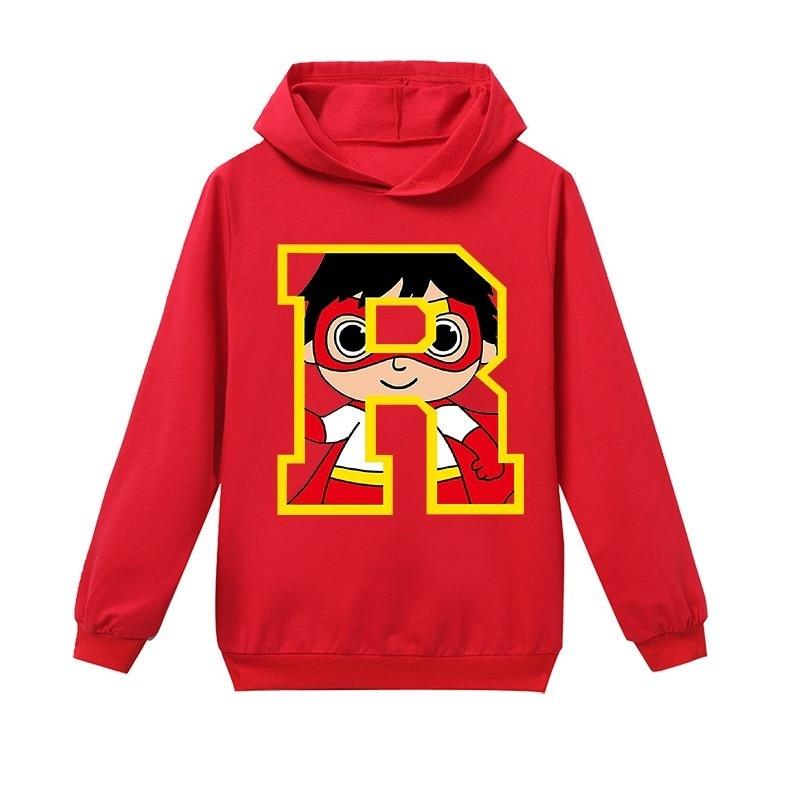Spring Autumn Boys Ryan Toys Review Hoodie Girls World Cartoon Sweatshirt Kids Hoody Thanksgiving Long Sleeve T Shirt Clothes