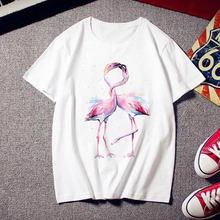 Фламинго красота трендовая футболка женская с модным принтом
