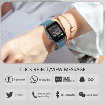 COLMI P8 Plus 1.69 inch 2021 Smart Watch Men Full Touch Fitness Tracker IP67 waterproof Women GTS 2 Smartwatch for Xiaomi phone 6