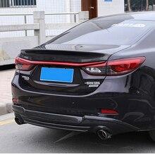 цены For Mazda 6 Atenza Spoiler 2014 2015 2016 2017 2018 Carbon Fiber Car Rear Wing Rear Spoiler