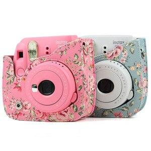Image 3 - กล้องป้องกันกรณีที่มีสีสันรูปแบบกระเป๋ากล้องหนังสำหรับFujifilm Instax Polaroid Mini 8/ Mini8 +/ 9กระเป๋าถือ