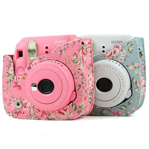 Image 3 - Shoulder Camera Protective Case Colorful Patterns Leather Camera Bag For Fujifilm Instax Polaroid Mini 8/ Mini8+/ 9 Handbags