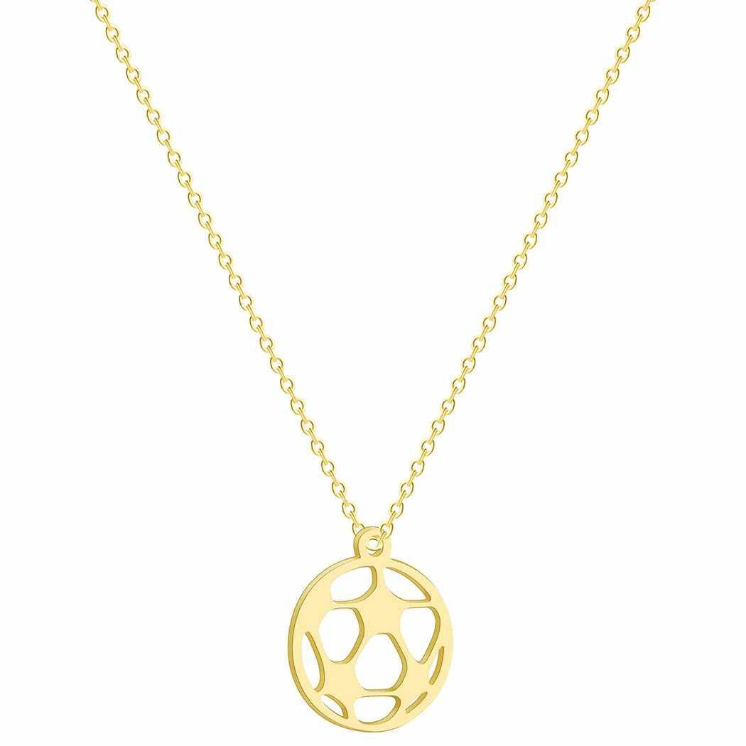 Cxwind Stainless Steel Soccer Football Charm Pendant Necklace Unisex Choker Jewelry Boys Mens Girls Womens Soccer Fan Gift
