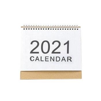2021 Desktop Calendar English Coil Daily Monthly Planner Schedule Yearly Agenda Organizer Desk Calendar 1