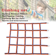 Outdoor Children Climbing Net Physical Child Step Hanging Playground Net Ladder Climbing Training Swing For Daily Sports