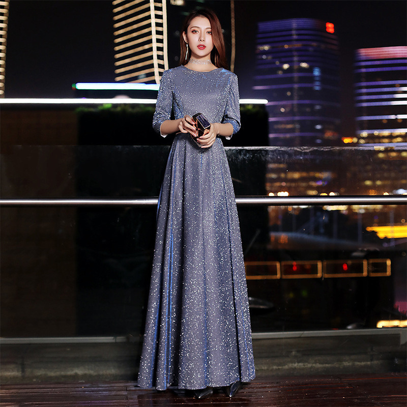 Women Simple And Generous Banquet Noble And Elegant Celebrity Party Show Thin And Gas Field Host Dress Skirt