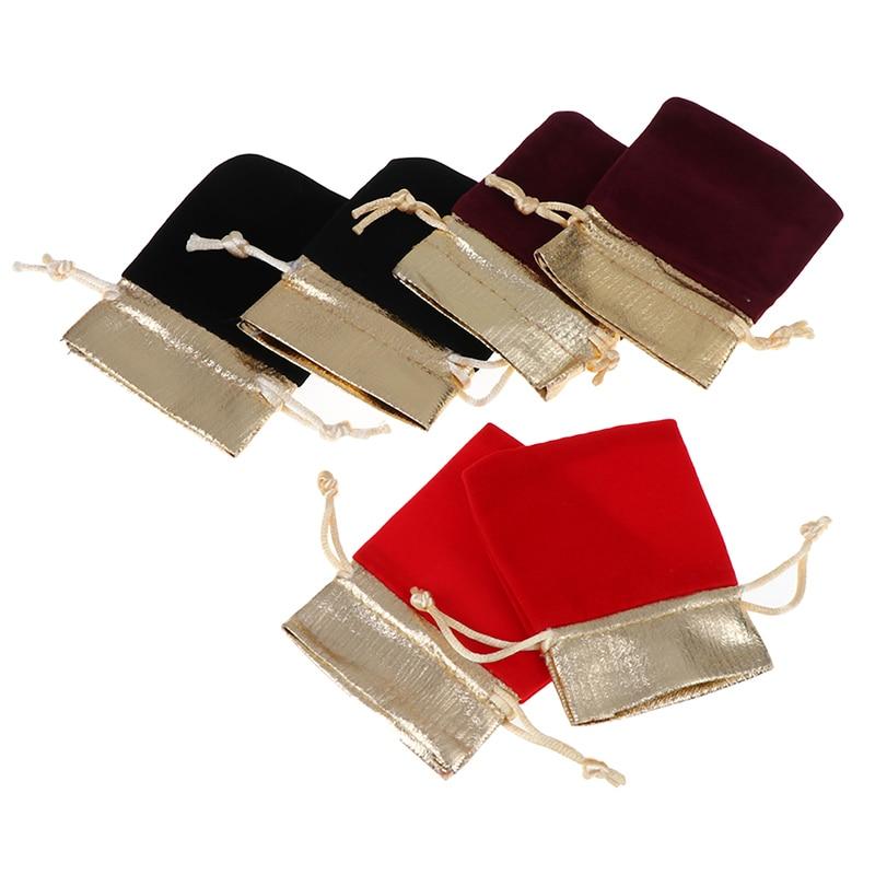 5pcs 7x9cm 10x12cm 12x15cm Jewelry Packaging Display Velvet Pouches Drawstring Packing Wedding Gift Bags Drawstring Bags