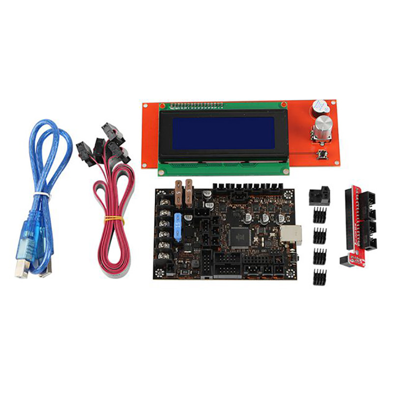 3D Printer Motherboard Kit for Prusa MK3 3S Einsy Rambo 1.1B with <font><b>TMC2130</b></font> <font><b>SPI</b></font> + 2004 Lcd image
