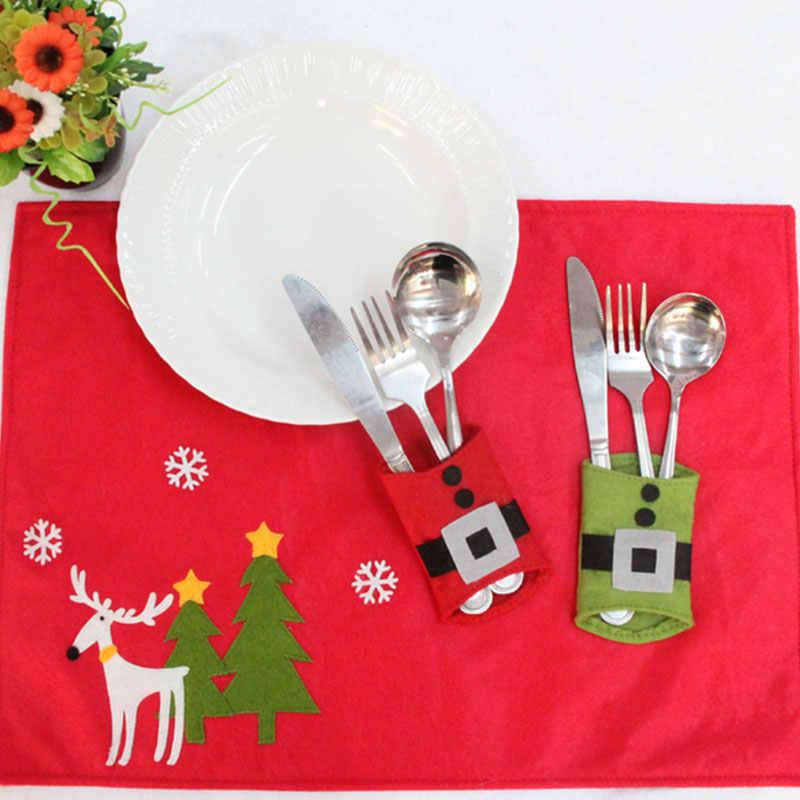 4 шт. Рождественский ремень столовые приборы нож посуда Карманный держатель сумки поставки