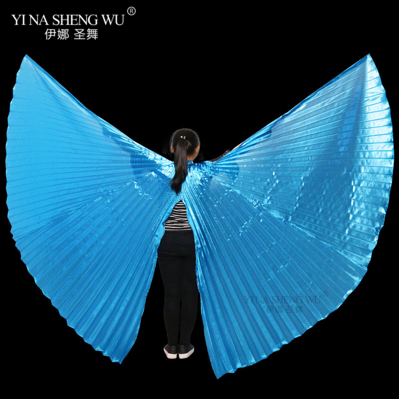 New Children Belly Dance Wings Bollywood Oriental Design Egypt Isis Wings Belly Dance Accessories Split Wings Without Sticks Bag