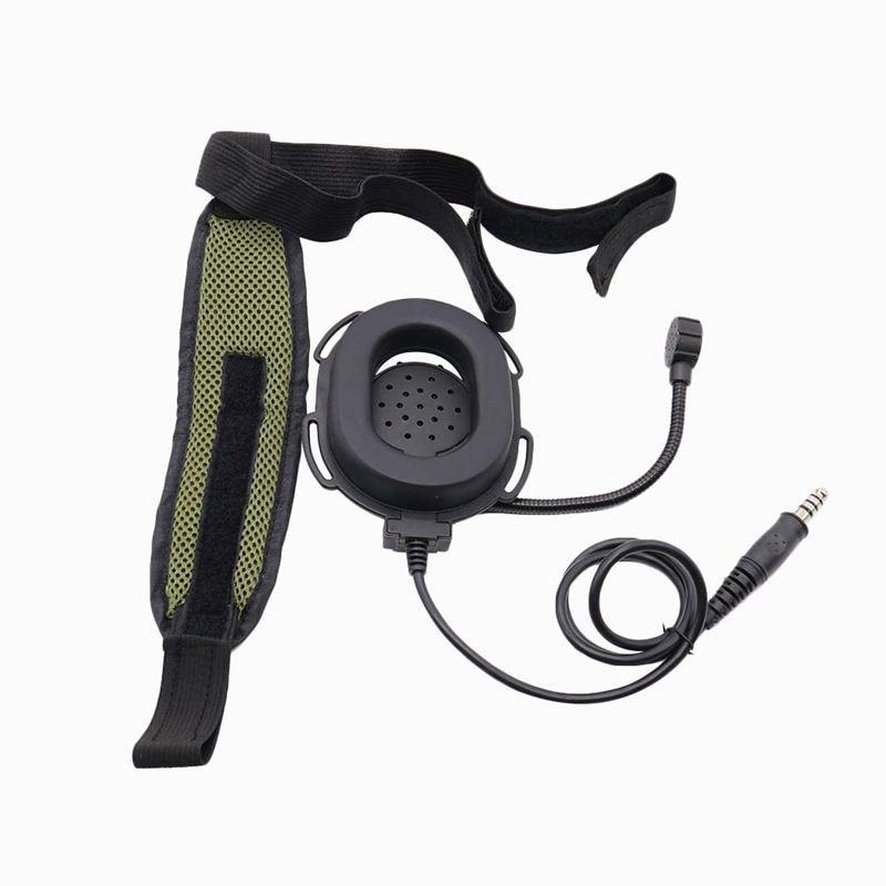 ABKT-Z Heavy Miltary Heavy Duty Bowman Elite II Hd03 Headset With Waterproof Ptt Right/Left Ear For Kenwood Baofeng UV-5R GT-3 U