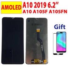 6.2 ''LCD AMOLED do Samsung Galaxy A10 A105 A105FN LCD do Samsung M10 M105 wyświetlacz ekran dotykowy Digitizer A105F montaż