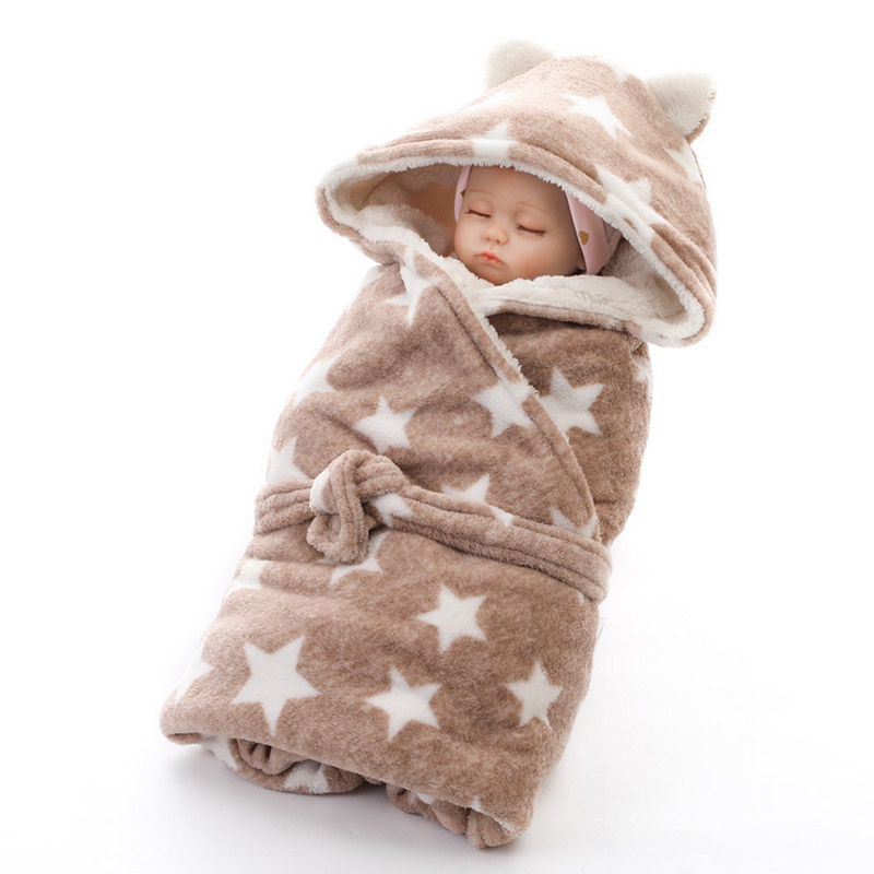Newborn Baby Blanket 100% Cotton Supersoft Blanket  Star Pattern Multi-use Infant Stroller Cover Towel Baby Muslin Swaddle Wrap