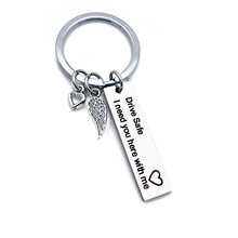 Drive Safe I need you here with me Keychain Stainless Steel Keyring For Couples Jewelry Gift Key Chain