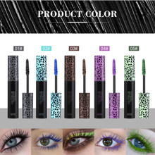 Professional Makeup Color Mascara Waterproof Long-lasting Curling Lengthening Makeup Blue Green Brown Black Color Mascara TSLM1(China)