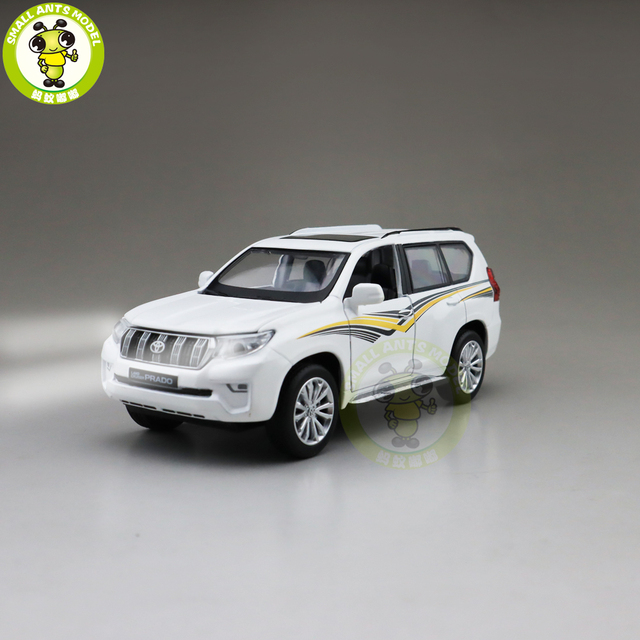1/32 CAIPO 2019 Land Cruiser Prado Diecast SUV 자동차 모델 완구 어린이를위한 사운드 조명 Pull Back gifts