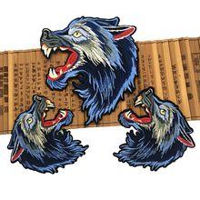 Eisen Auf Patch 2 Stück Niedliche Gestickte wolf Patches DIY Stickerei patchen gelten Handgemachte Kleidung Taschen röcke mantel
