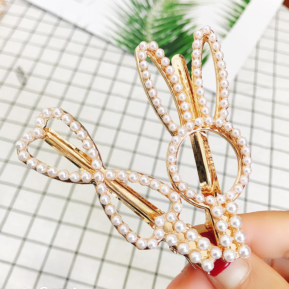 Fashion Rhinestone Baby Girl Crystal Hair Clip Hairpin Crown Pearl