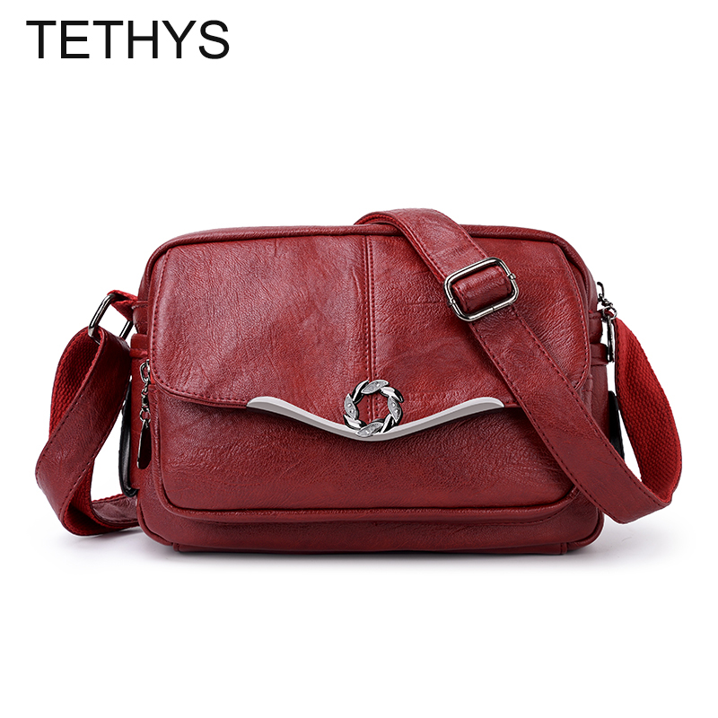 TETHYS 2019 Designer Bags Famous Brand Women Bags Luxury Ladies High Quality Shoulder Bag Women Leather Cross Body Bag Sac A Dos