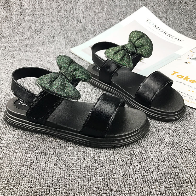 Princess Shoes Breathable Baby Toddler Beach Sandals Anti-slip Summer Casual Kids Shoes Girls Sandals Fashion Sequin Bowknot