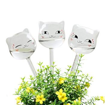 Żarówki w kształcie kota do samodzielnego podlewania szkło bezbarwne woda roślinna roślina do samodzielnego podlewania tanie i dobre opinie CN (pochodzenie)