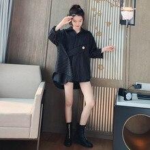 Autumn Striped Blouse Women Designer Top Button Loose Up Shirt Long Sleeve Korean Fashion Clothing 2019 autumn striped blouse women designer top button loose up shirt long sleeve korean fashion clothing 2019
