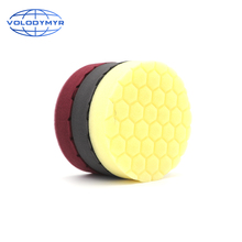 Hexagonal Pattern Type Buffing Pad with 5 Inch Hook and Loop USA Foam Sponge  Polishing Pads for Car Buffer Cars Polisher
