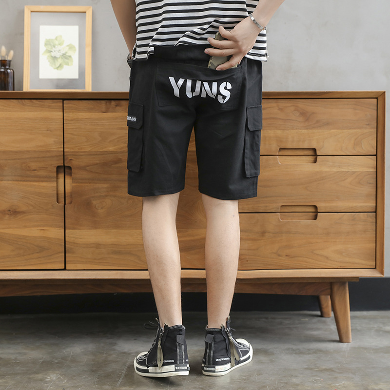 Men Hong Kong Style Shorts Summer Shorts Trend Workwear Casual Pants Korean-style Loose-Fit MEN'S Trousers