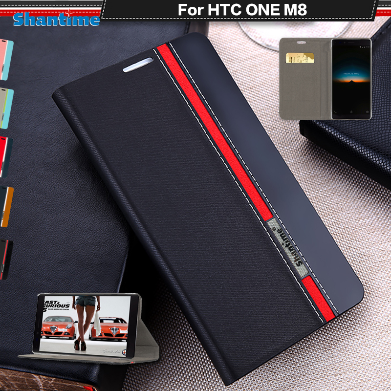 Book Case Cover For HTC ONE M8 Luxury PU Leather Wallet Flip Case For HTC M8 Silicon Soft Back Cover(China)