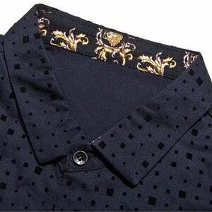 Image 2 - 2020 זכר אופנה מותג מקרית עסקי Slim Fit גברים חולצה Camisa ארוך שרוול Pllka דוט חברתי חולצות שמלת בגדי ג רזי 374
