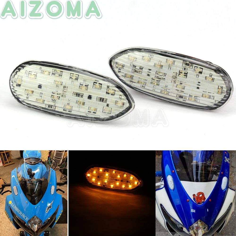Motorcycle LED Flush Mount Turn Signals Blinker Indicator Flasher Lights For Suzuki GSXR GSX-R 600 750 1000  2005-2016 2006 2008