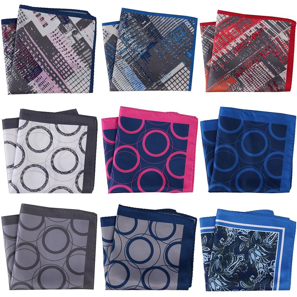 30CM Width Men Pocket Squares Men's Handkerchief Floral Paisley Scarf Hankies Chest Towel Printed Mens Towel Wedding Party Gift