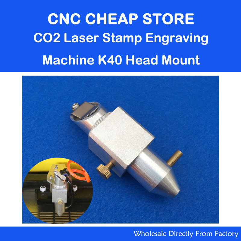 CO2 Laser Head Holder Stamp Engraver K40 3020 Part Head Mount 20 Mirror 18 Focus Lens 50.8mm Focal Length With Air Assist Nozzle