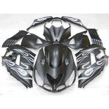Wotefusi ABS Painted Bodywork Fairing Set For Ninja ZX 14R 2006 2007 2008 2009 (A)