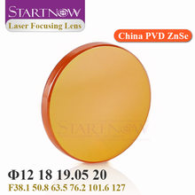 Startnow CO2 Laser Fokus Objektiv China PVD ZnSe 12 18mm 19,05 20 mm F 38,1 50,8 63,5 76,2 101,6 1.5