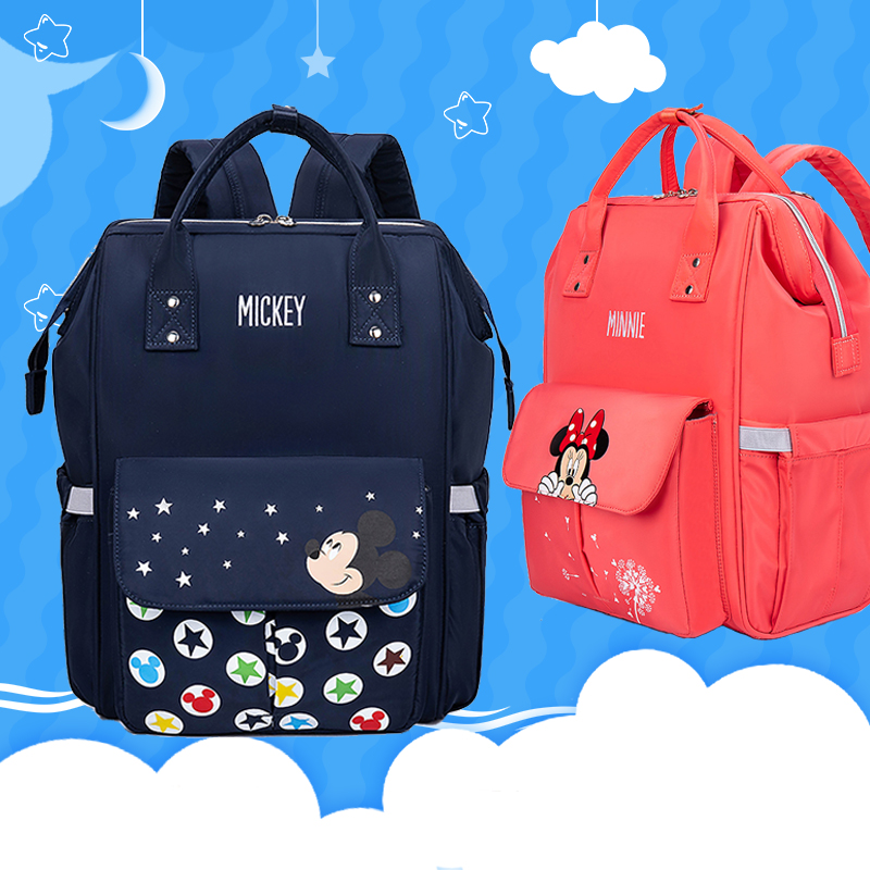 Disney Mummy Diaper Bags Maternity Nappy Large Capacity Baby Bag Travel Backpack Nursing Baby Care Bag Mickey Minnie Mommy Bags