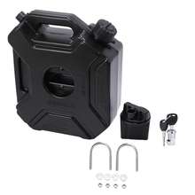 5L Liters Black Fuel Tank Can Car Motorcycle Spare Petrol Oil Tank Backup Jerrycan Fuel-Jugs Canister with Lock & Key