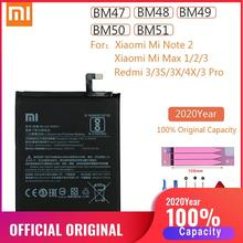 BM47 BM48 BM49 BM50 BM51 Original Xiao Mi Max Max2 Max3 Note2 Redmi 3X 3S 3 Pro 4X Replacement Battery for Xiaomi MiMax 1 2 3