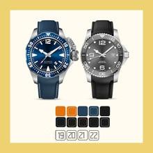 Pasek do zegarków gumowe sportowe paski do Omega 19mm 20mm 21mm 22mm planeta Ocean PAGANI IWC Certina Hamilton klamra do rozmieszczenia Seiko-SKX